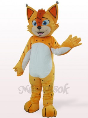 Orange Leopard With White Belly Plush Mascot Costume