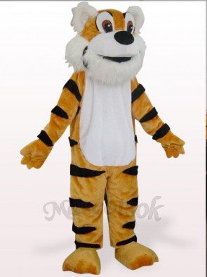Orange Tiger Plush Mascot Costume