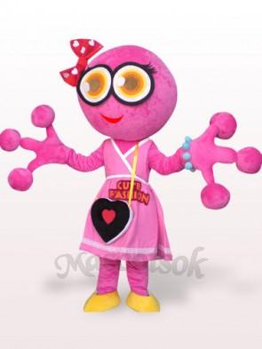 Pink Big Head Frog Plush Adult Mascot Costume