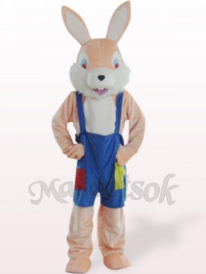 Easter Pink Funny Rabbit Plush Mascot Costume