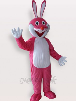 Easter Pink Rabbit Short Plush Adult Mascot Costume