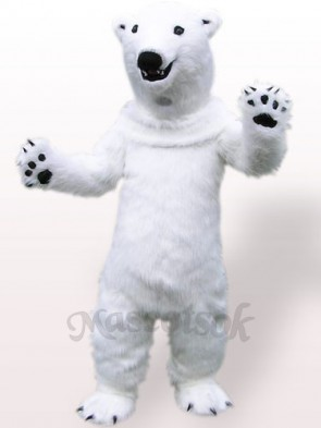 Polar Bear Plush Adult Mascot Costume
