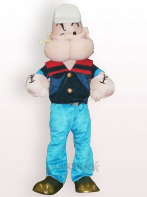 Popeye Short Plush Adult Mascot Costume