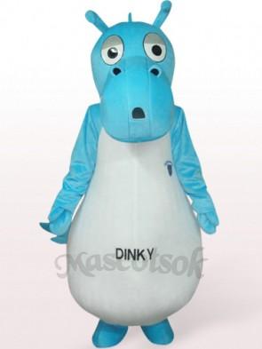 Protoceratops In Blue Clothes Plush Mascot Costume