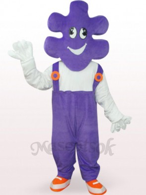 Purple Mr. Makeup Plush Adult Mascot Costume