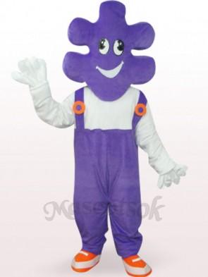 Purple Mr. Makeup Plush Adult Mascot Costume