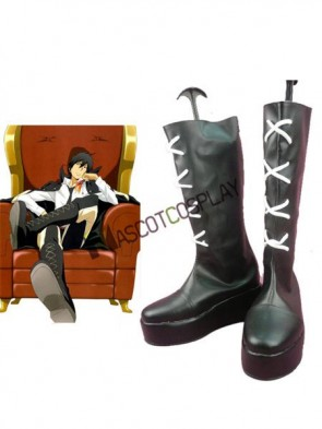 Reborn Xanxus Imitated Leather Cosplay Shoes