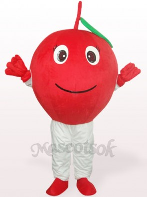 Red Apple With Single Leaf Plush Adult Mascot Costume