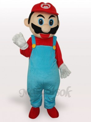 Red Super Mario Bros Short Plush Adult Mascot Costume