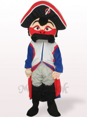 Red Face Pirate Plush Adult Mascot Costume