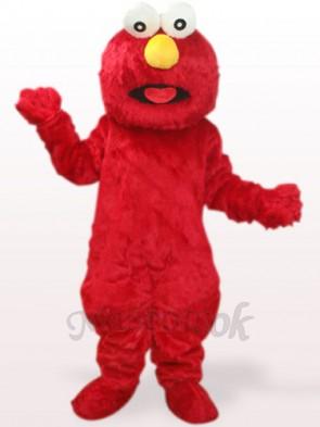 Red Long Hair Monster Plush Adult Mascot Costume