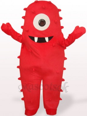Red Monster Plush Adult Mascot Costume