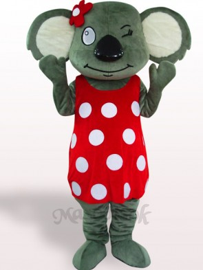 Red Skirt Koala Plush Adult Mascot Costume