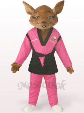 Red Tyke Dog Plush Adult Mascot Costume