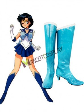 Sailor Moon Sailor Mercury Imitated Leather Cosplay Shoes