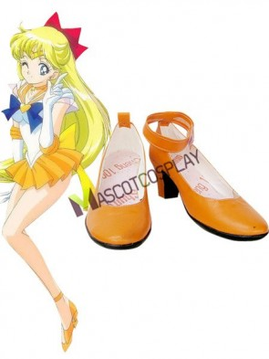 Sailor Moon Venus Imitated Leather Cosplay Shoes
