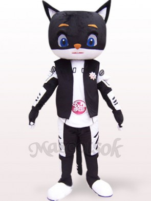 Sir Black Cat Plush Adult Mascot Costume