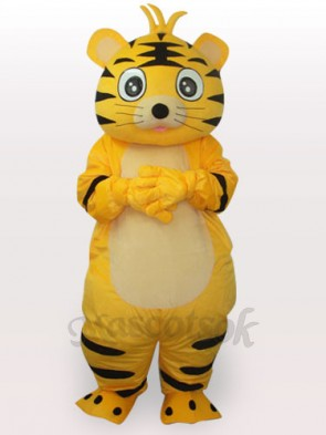 Smart Tiger Short Plush Adult Mascot Funny Costume