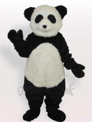 Smiling Panda Long Plush Adult Mascot Costume