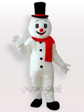 Snow Man With Hat Adult Mascot Costume