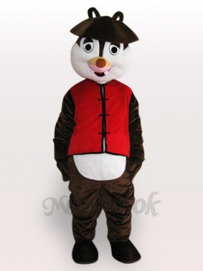 Squirrel Short Plush Adult Mascot Costume