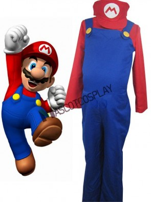 Super Mario Bros Mario Cosplay Costume