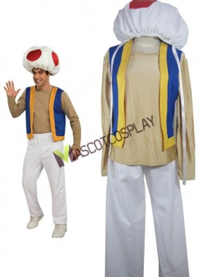 Super Mario Bros Toad(Kinopio) Cosplay Costume