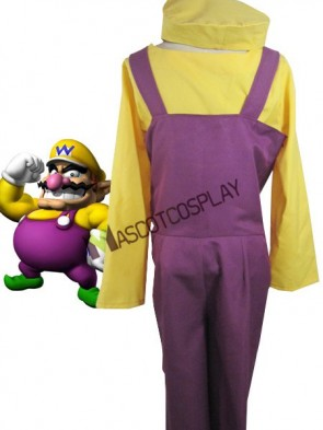Super Mario Bros Wario Cosplay Costume