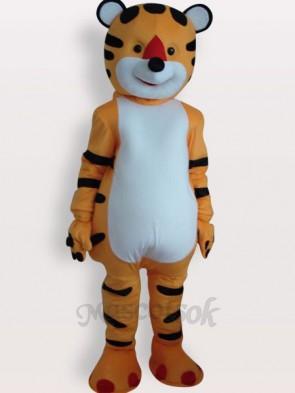 Tiger Short Plush Adult Mascot Costume