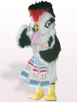 White Hair Bird Plush Adult Mascot Costume