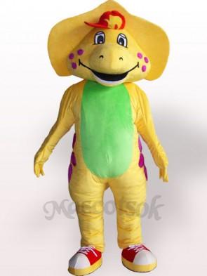 Yellow Dinosaur Plush Adult Mascot Costume