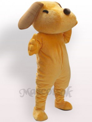Yellow Dog Plush Adult Mascot Costume  Yellow Dog Plush Adult Mascot Costume