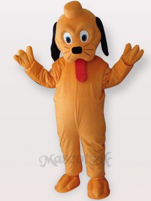 Yellow Dog Short Plush Adult Mascot Costume