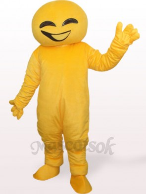 Yellow Doll Plush Adult Mascot Costume
