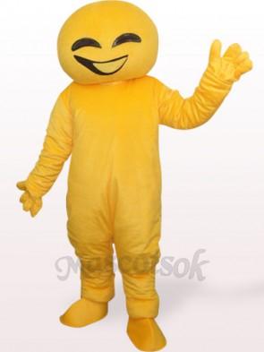 Yellow Doll Plush Adult Mascot Costume