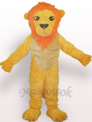 Yellow Lion Plush Adult Mascot Costume