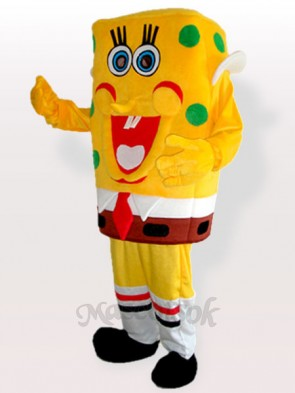 Yellow Sponge Boy Adult Mascot Costume