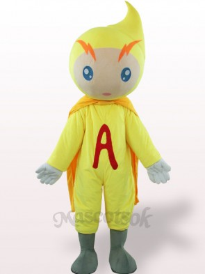 Yellow Volt-Ampere Plush Adult Mascot Costume