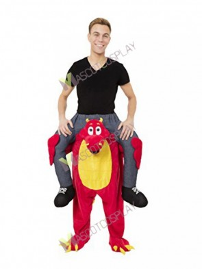 Piggyback Carry Me Ride on Red Dragon Mascot Costume