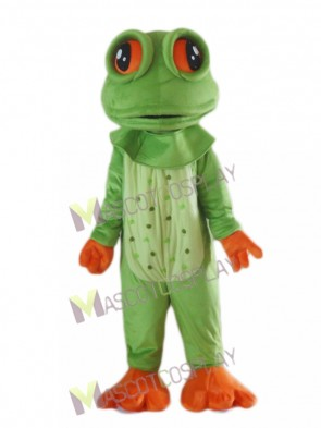 Big Eyed Frog Mascot Costume