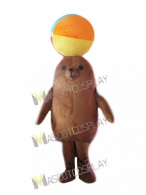 Brown Sea Lion for Aquarium Show Mascot Costume