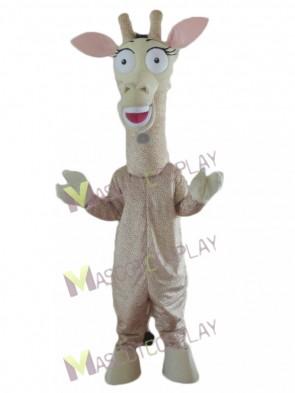 Giraffe with Big Eyes Mascot Costume
