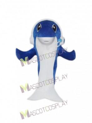 Music Dolphin Cartoon Mascot Costume