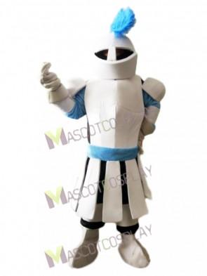 White Soldier Knight Mascot Costume