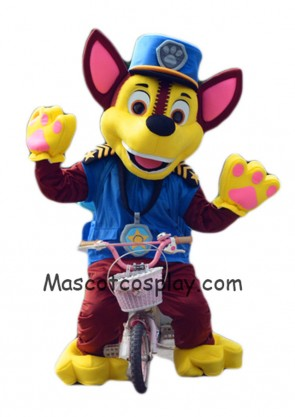 Hot Sale Paw Patrol Chase Dog Mascot Costume German Shepherd Puppy Spy Dog Costume