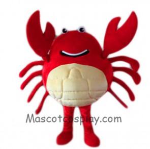 Red Crab Mascot Costume Cartoon Fancy Dress