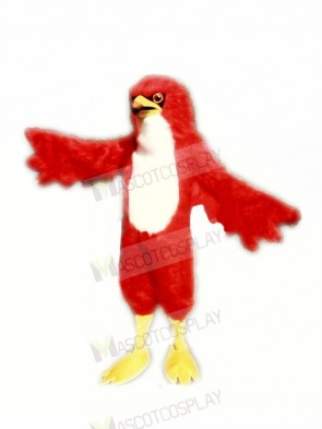 Fierce Red Hawk Mascot Costumes Adult