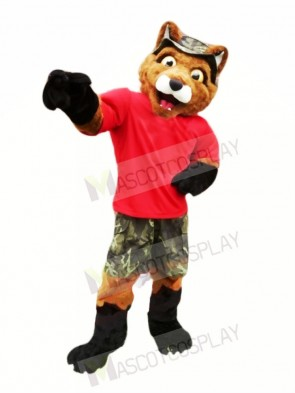 Fox with Red T-shirt Mascot Costumes Animal
