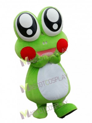 Cute Cartoon Frog with Big Eyes Mascot Costume