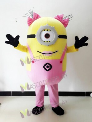 Despicable Me Pink One Eye Minions Mascot Costume